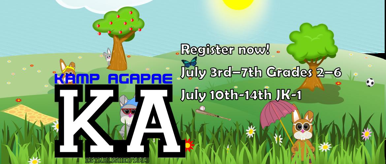 Kamp Agapae Registration is Open
